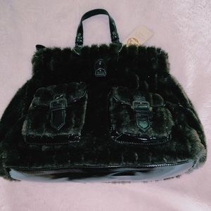 Brooke Brown Fur Handbag